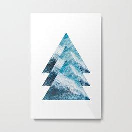 Abstract Ocean Waves No1 Metal Print