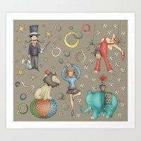 circus Art Prints featuring Circus by Catru