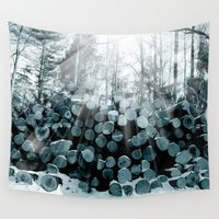 wood Wall Tapestries featuring wood  by mark ashkenazi