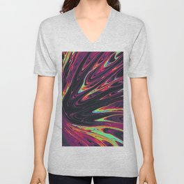 colorful trippy artwork Unisex V-Neck