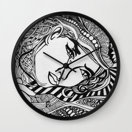 Zentangle Lichtenstein Wall Clock
