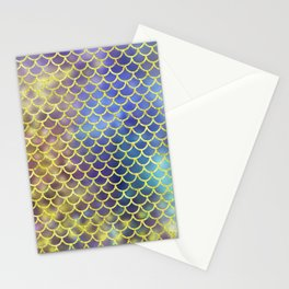 Rainbow Mermaid Scales Pattern Stationery Cards