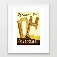 resident evil Framed Art Prints featuring Resident Evil Afterlife by JackEmmett