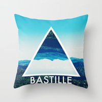 bastille Throw Pillows featuring BASTILLE by Hands in the Sky