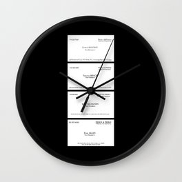 American Psycho Business Cards Wall Clock