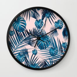 Tropical Jungle Leaves Garden #1 #tropical #decor #art #society6 Wall Clock