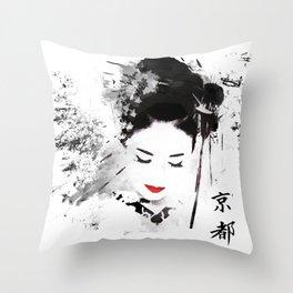 Kyoto Geisha Throw Pillow
