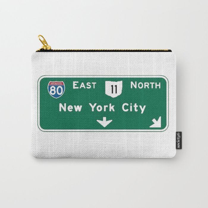New York City Interstate 80 Sign Carry-All Pouch