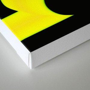 Abstract. Yellow+Black. Canvas Print