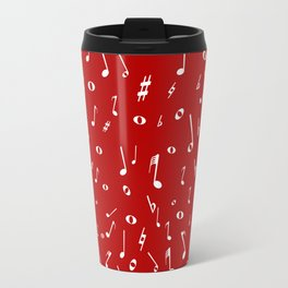 Music Notation  Background Travel Mug