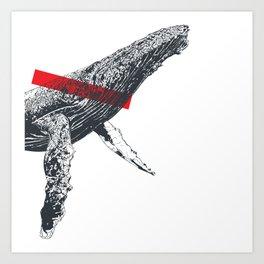 Ilove whale Art Print