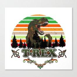 Jurassic World Boys  T-rex Short Sleeve T-Shirt Dinosaur Christmas Gift Boys Canvas Print