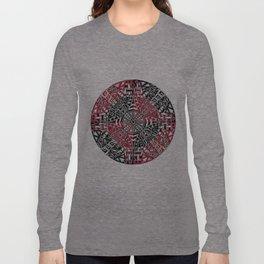 Red and Black Zendala Long Sleeve T-shirt