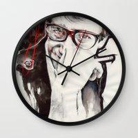 ysl Wall Clocks featuring YSL by Mitja Bokun