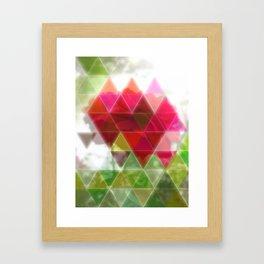 Red Rose with Light 1 Art Triangles 1 Framed Art Print