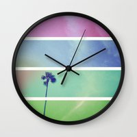 palm tree Wall Clocks featuring Palm Tree by Whitney Retter