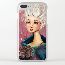 Ghost Bouquets Clear iPhone Case