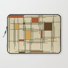 1940s Abstract Art Lines Laptop Sleeve