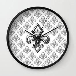 Royal - fleur de lys Wall Clock