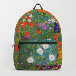 Flower Garden Bauerngarten Klimt Garden Floral Oil Painting Backpack