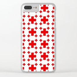Jerusalem Cross 1 Clear iPhone Case