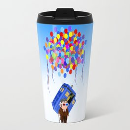 Cute Old 10th doctor who with flaying tardis iPhone 4 4s 5 5c 6, pillow case, mugs and tshirt Travel Mug