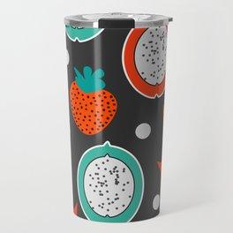 Strawberries and citrus fruits at night Travel Mug