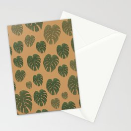 Mini Monstera leaf collection Stationery Cards