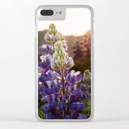 Mountain Lupine Photography Print Clear iPhone Case