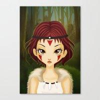 mononoke Canvas Prints featuring Mononoke by Paz Huichaman