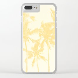 Yellow Palm Trees Clear iPhone Case