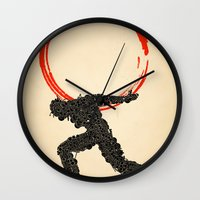 atlas Wall Clocks featuring Atlas by Dave Razor Compton Wolff
