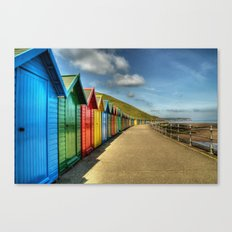 Whitby Beach Huts Canvas Print