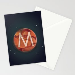 M is for Mars. Stationery Cards