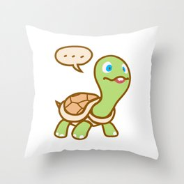 Thinking Turtle Throw Pillow