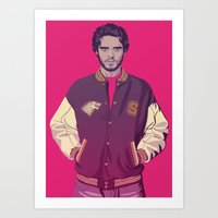 90s Art Prints featuring 80/90s ERA - R.Srk by Mike Wrobel