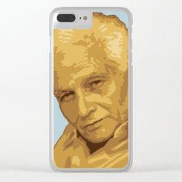 Jacques Derrida Clear iPhone Case