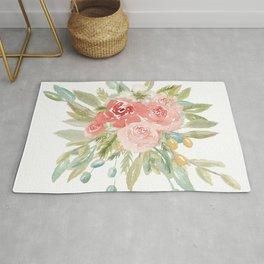 Loose Boho Watercolor Florals Rug