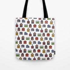 Barn Quilt Illustration Tote Bag