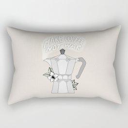 Make Coffee Not War Rectangular Pillow