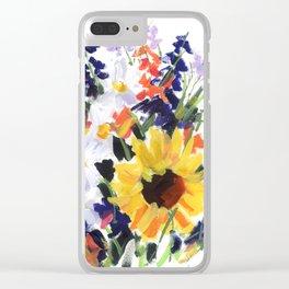 Sunflower Bouquet Clear iPhone Case