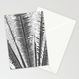 Black and White Modern Tropical Palm Fronds Stationery Cards