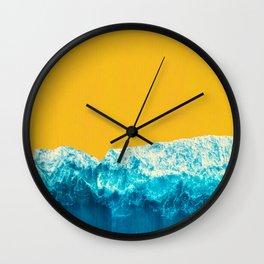 Yellow Tide Wall Clock