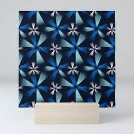 Fragmented Blue Burst Mini Art Print