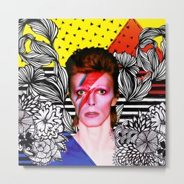 Bowie Stardust Metal Print