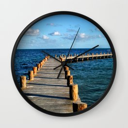 Docking In (Mexico) Wall Clock