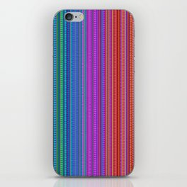 Abstract rainbow dots and lines iPhone Skin