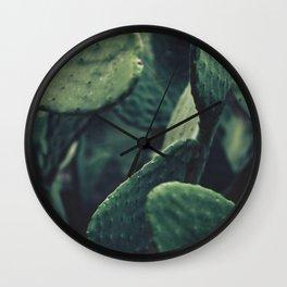 fine art print of prickly pears, macro, still life, interior decoration, interior design, wall decor Wall Clock