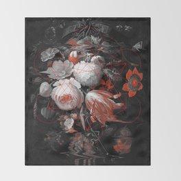 sacred flowers Throw Blanket