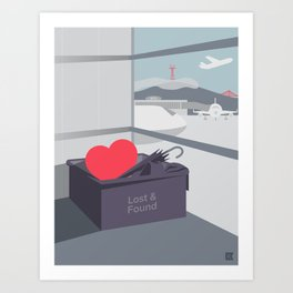 Left my Heart in San Francisco Art Print